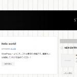 WordPress始めました。