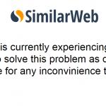 similarweb、技術的エラーにより止まる